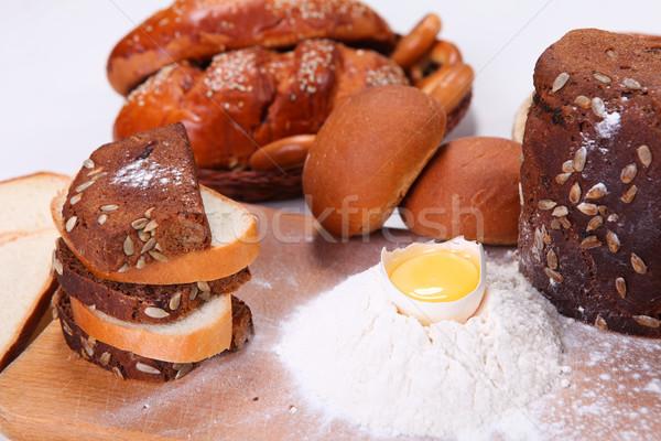 Vers brood foto verschillend geïsoleerd witte Stockfoto © dmitroza