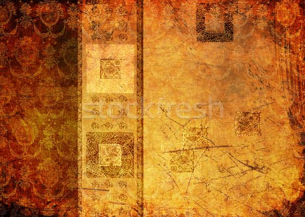 Grunge scratch patronen abstract frame Stockfoto © dmitroza