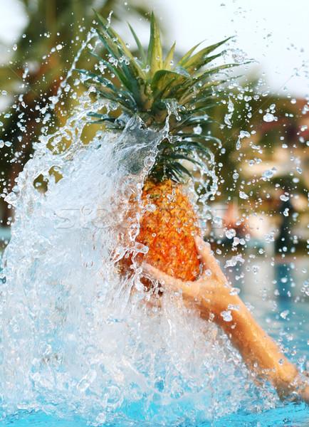 pineapple in water Stock photo © dmitroza