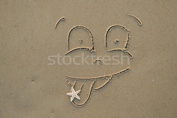 Face on the beach Stock photo © dmitroza