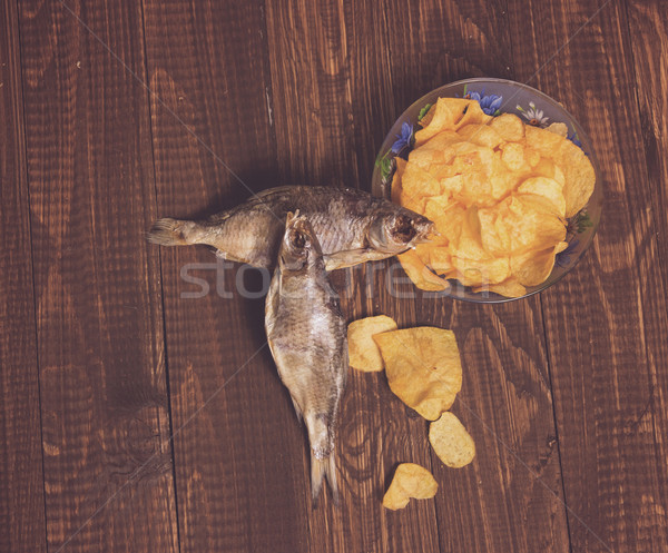 Fish with chips Stock photo © dmitroza