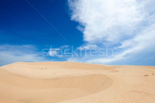 Deserto paisagem areia blue sky céu nuvem Foto stock © dmitroza