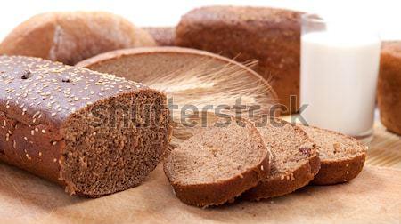 White and brown bread Stock photo © dmitroza