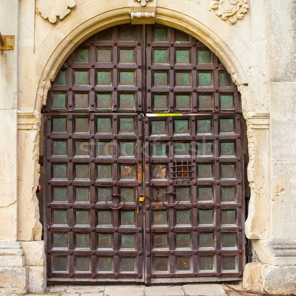 表示 古い ドア 金属 ドアの鍵 ロック ストックフォト © dmitroza
