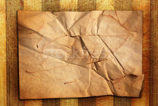 Houten oude natuurlijke bureau oud papier Stockfoto © dmitroza