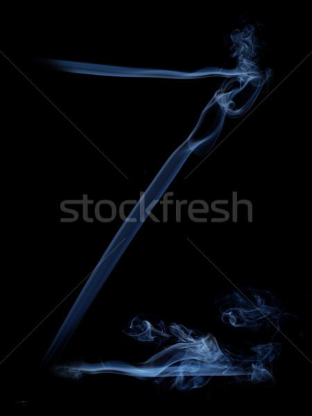 Füst levél szürke z betű fekete felirat Stock fotó © dmitroza