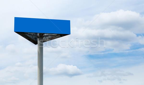 Billboard groot commerciële wolken hemel Blauw Stockfoto © dmitroza
