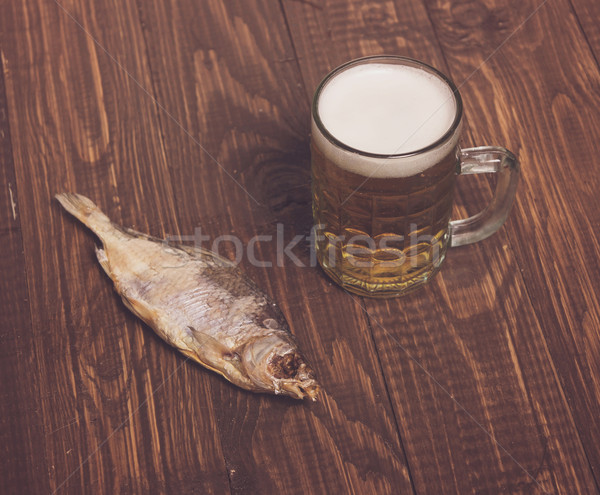 Beer, fish Stock photo © dmitroza