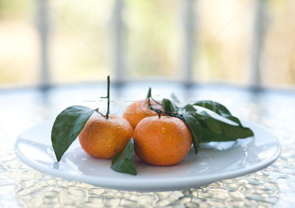 Fresh orange mandarines Stock photo © dmitroza