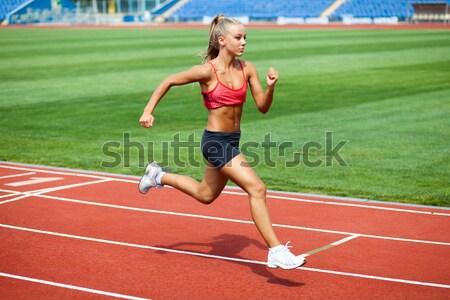 Sporty woman Stock photo © dmitroza