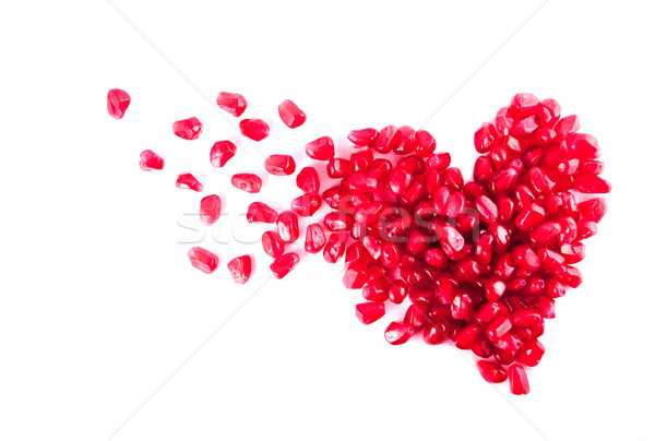 Heart from pomegranate Stock photo © dmitroza