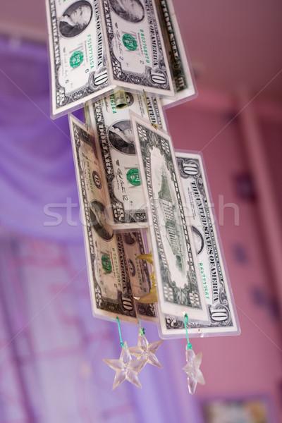 греметь пластиковых деньги подвесной комнату весело Сток-фото © dmitroza