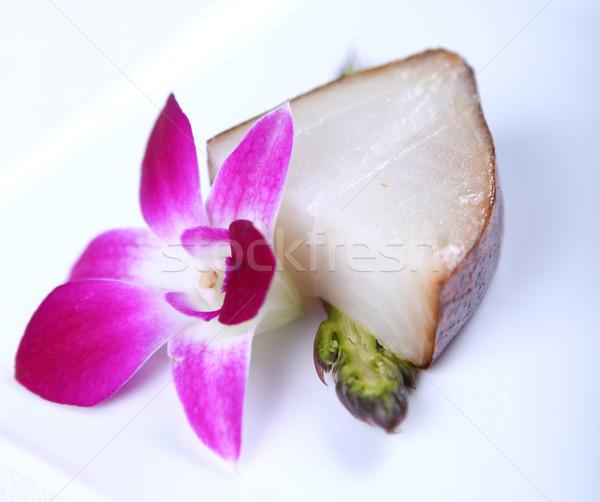 Branco peixe flor fresco decorado Foto stock © dmitroza