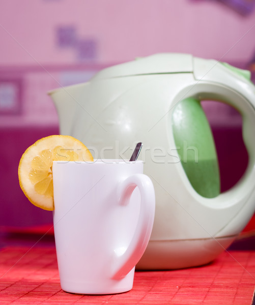 cup and kettle Stock photo © dmitroza