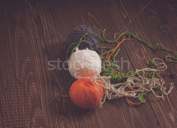 On table clews of thread Stock photo © dmitroza