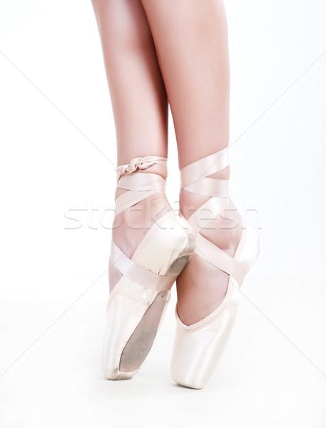 Pernas sapatos mulher dança balé sapato Foto stock © dmitroza