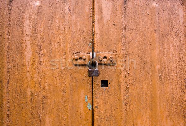 Trancar quadro sujo marrom parede abstrato Foto stock © dmitroza
