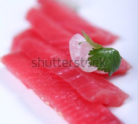 Friss tonhal jó hús fehér étel Stock fotó © dmitroza
