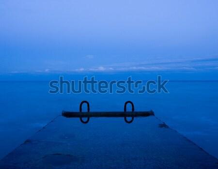 Konkretnych molo morza niebo wody charakter Zdjęcia stock © dmitroza