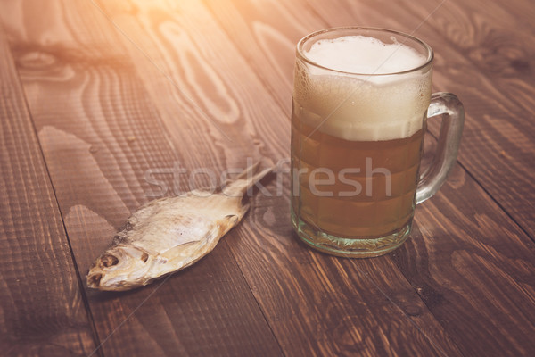 One fish with beer Stock photo © dmitroza