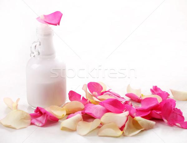 ボトル バラの花びら ガラス 花 バラ ストックフォト © dmitroza