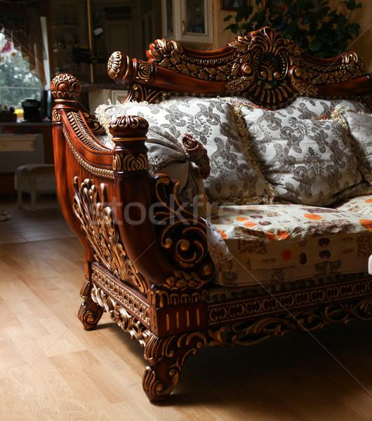 Stock photo: Carved sofa