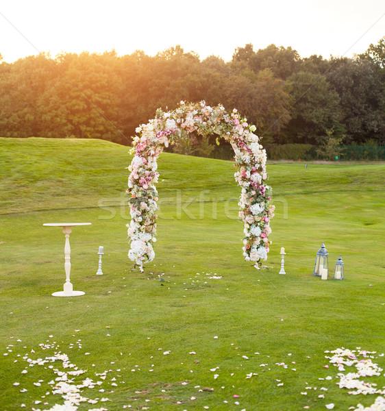 Floral arco verde campo belo pequeno Foto stock © dmitroza