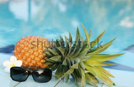 Fresco ananás piscina quadro natureza fruto Foto stock © dmitroza