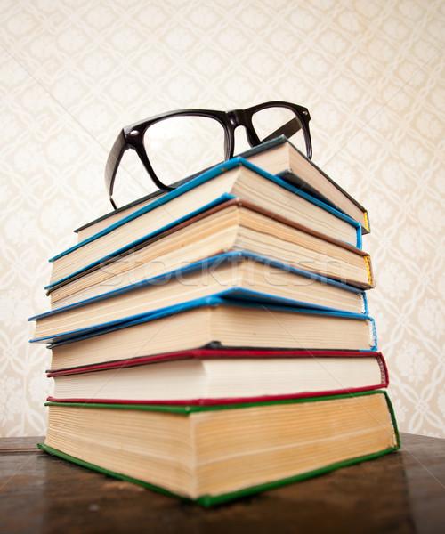 Books and glasses Stock photo © dmitroza