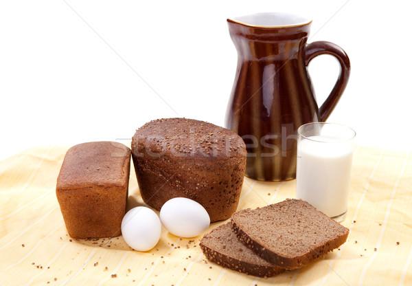 Brown bread with milk Stock photo © dmitroza