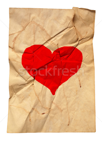 paper with fracture and heart Stock photo © dmitroza