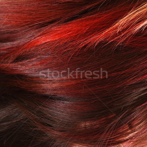 red female hair Stock photo © dmitroza
