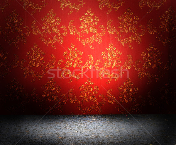 Red old wallpaper Stock photo © dmitroza