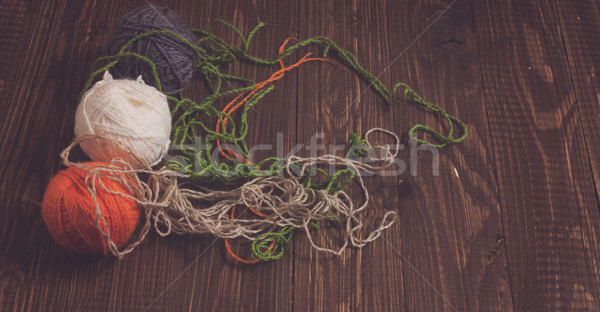 Clews of thread Stock photo © dmitroza