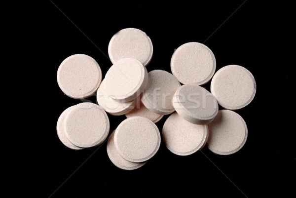 Pillen groep witte zwarte wetenschap kleur Stockfoto © dmitroza