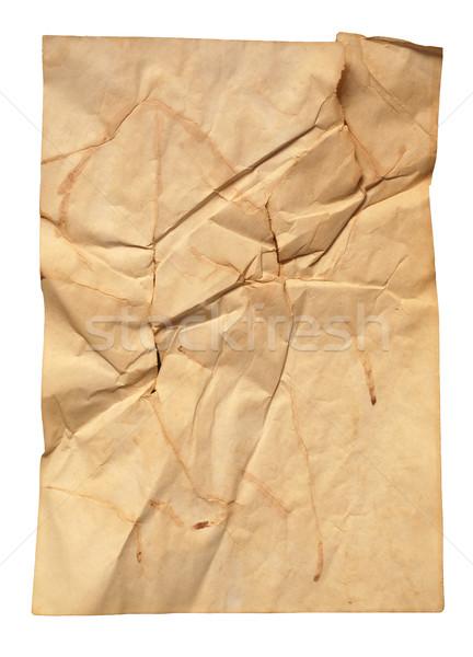 бумаги перелом старые природного грязные бежевый Сток-фото © dmitroza