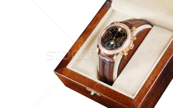wristwatch in box Stock photo © dmitroza