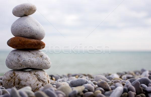 stone and beach of the sea Stock photo © dmitroza