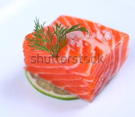 Vers sashimi ingericht kalk Stockfoto © dmitroza