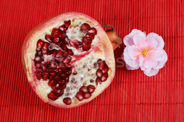 slice of pomegranate Stock photo © dmitroza