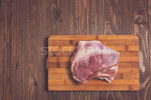 On a table is a pork Stock photo © dmitroza