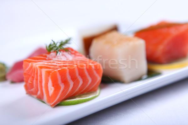Fresh sashimi Stock photo © dmitroza