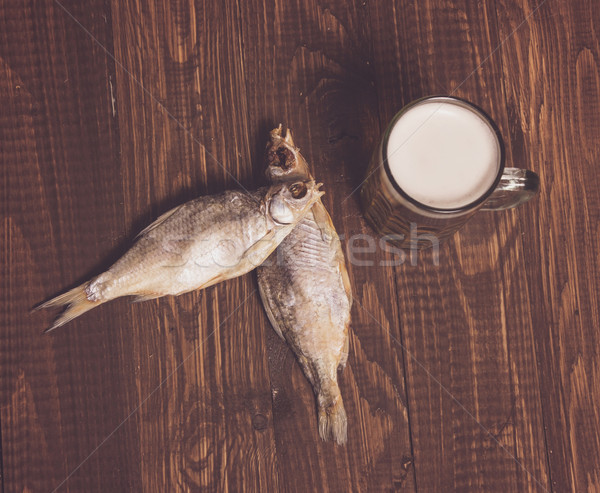 Two fishes and frothy beer Stock photo © dmitroza