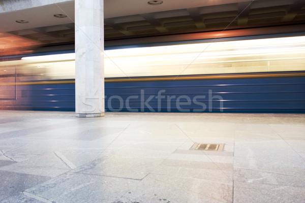 Urbaine métro intérieur métro chemin de fer colonne Photo stock © dmitroza