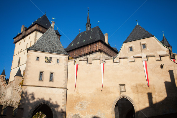 Ancient castle with towers Stock photo © dmitroza