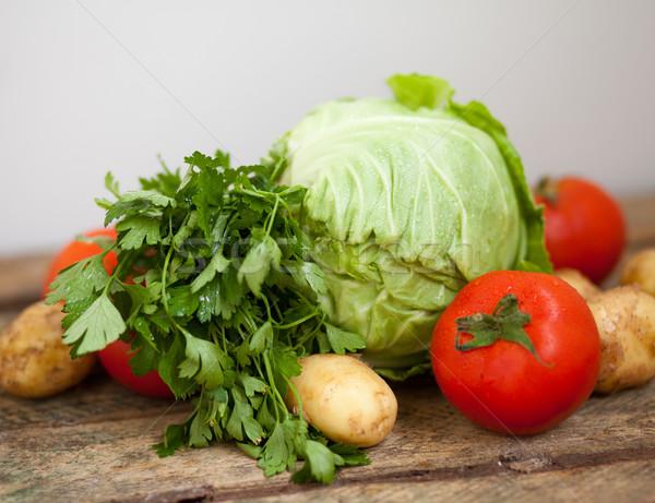 świeże warzywa świeże soczysty wilgotny warzyw Zdjęcia stock © dmitroza