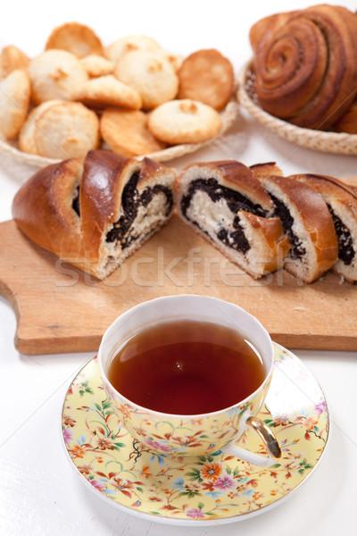 Tea with baking Stock photo © dmitroza