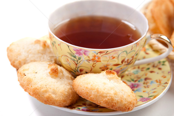 Chá copo preto doce beber Foto stock © dmitroza