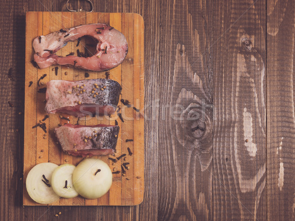 Temperos peixe três peças saboroso Foto stock © dmitroza