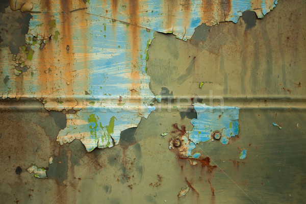 Metal wall with corrosion Stock photo © dmitroza